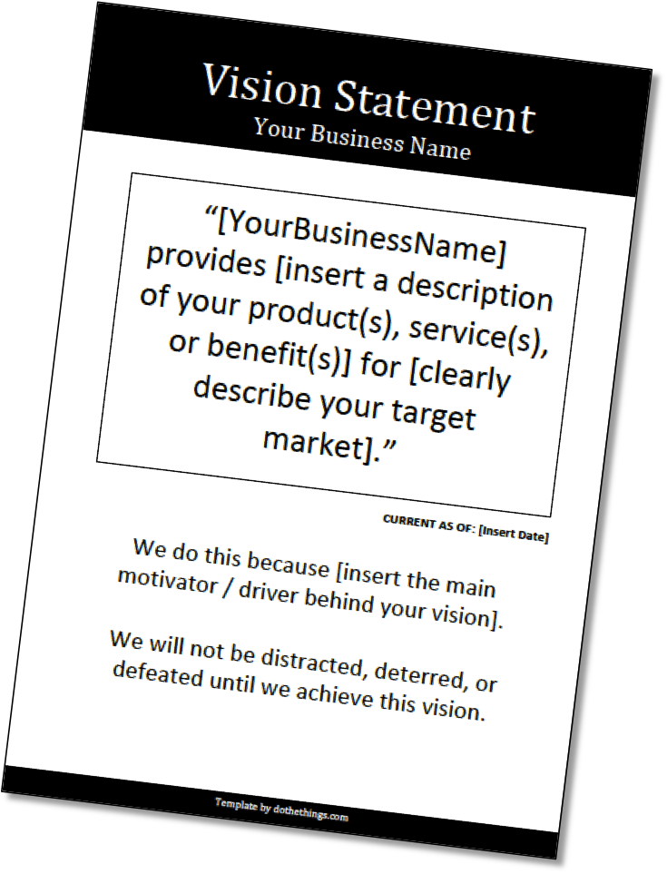 Define A Powerful Vision For Your Business Use Our Vision