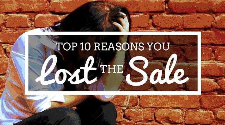 Reasons you lost the sale