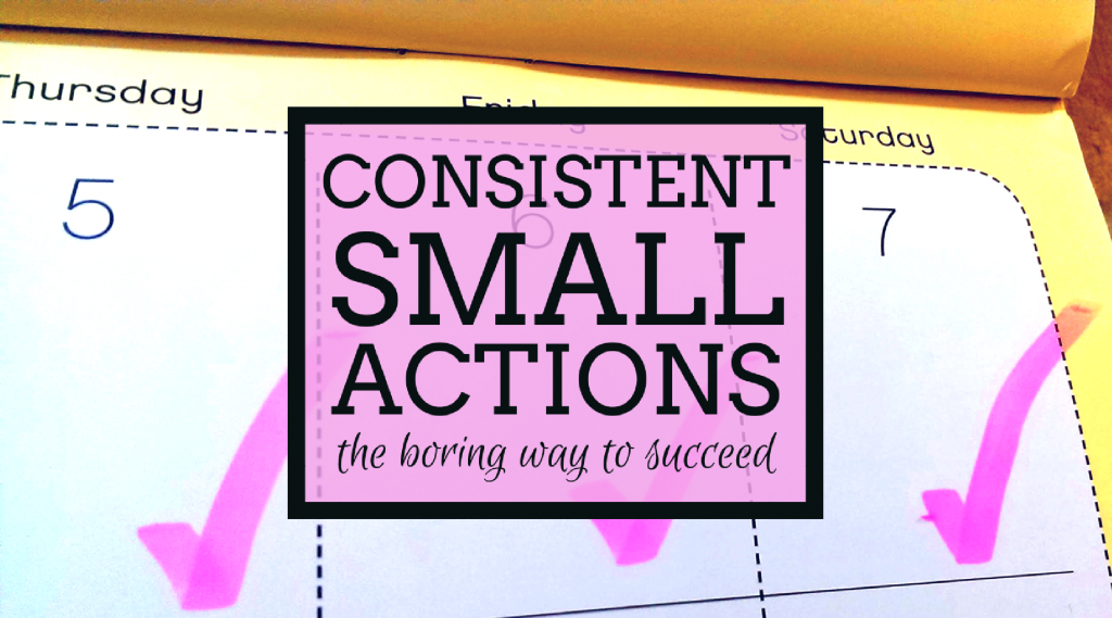 Consistent Small Actions
