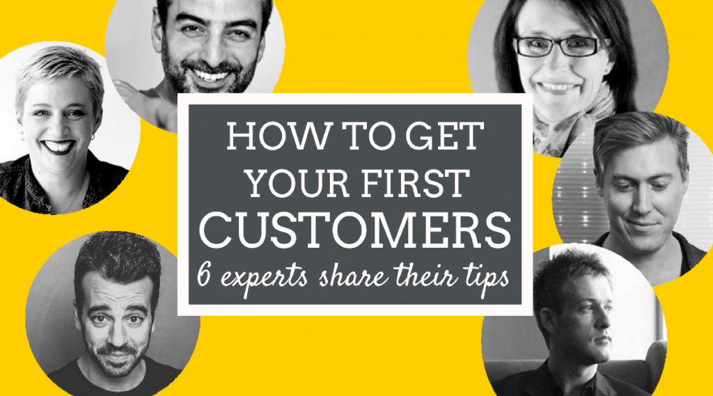 how to get your first customers