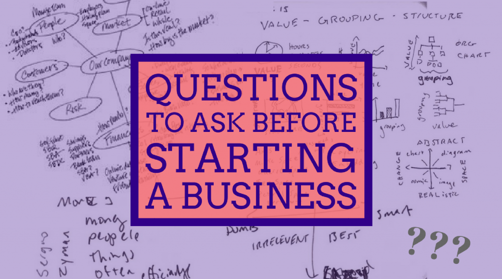 Questions to ask before starting a business